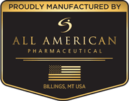 Proudly Manufactured At All American Pharmaceutical