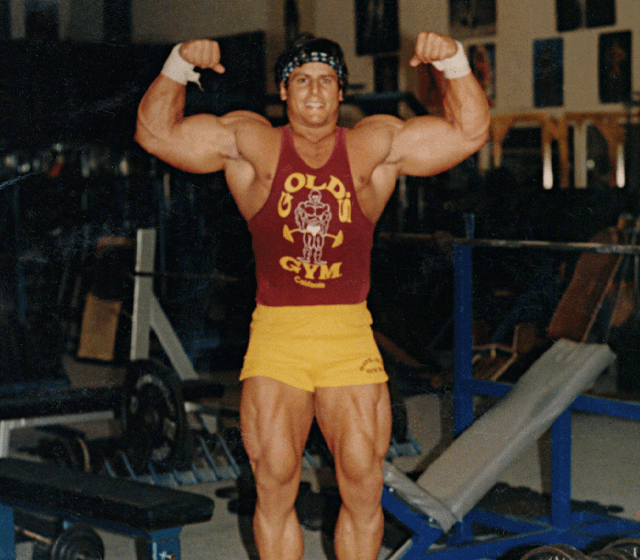 Jeff Golini Bodybuilder At Gold's Gym Venice Beach California