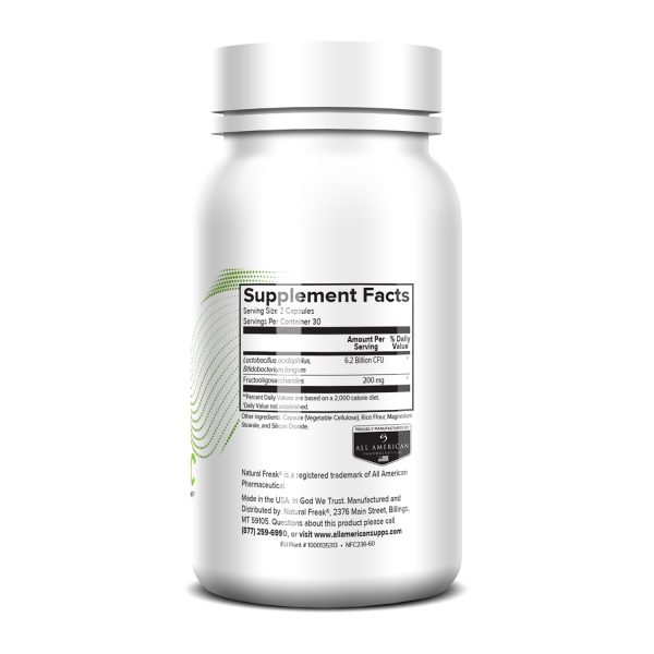 Natural Freak Probiotic Capsules Supplement Facts